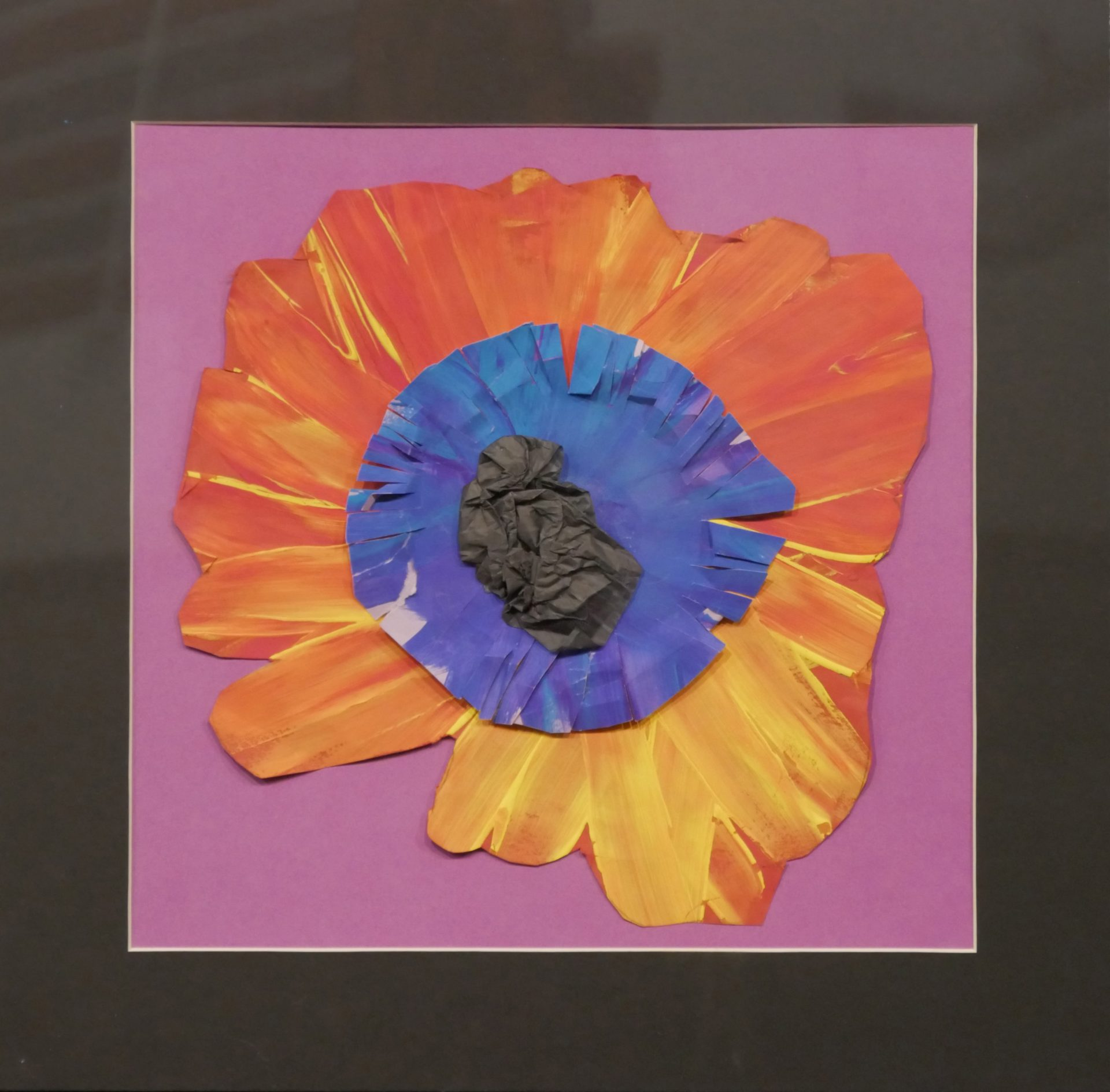 'Poppy' by Cayden Howell (acrylic on paper)
