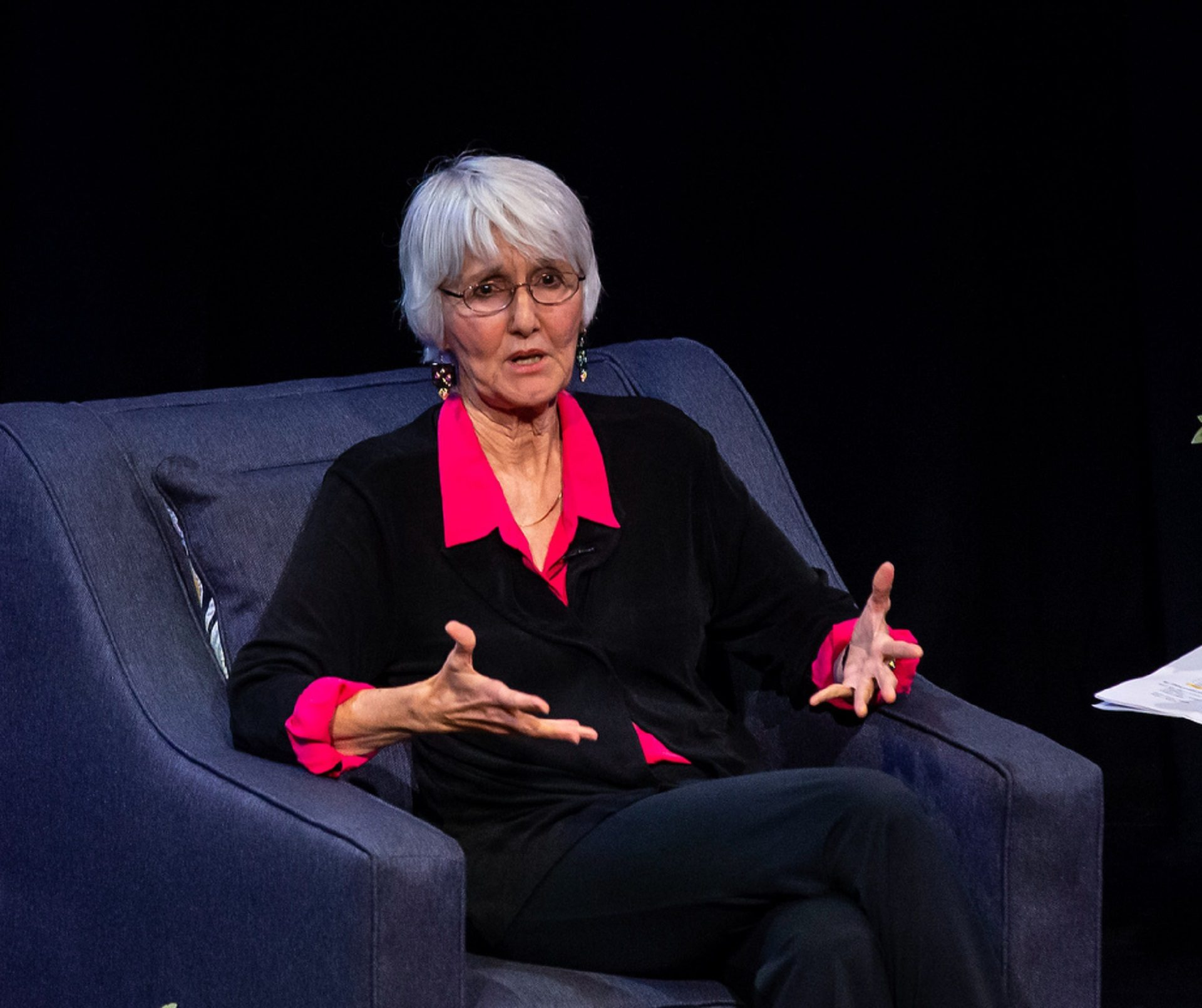 Sue Klebold, an advocate of mental health awareness and mother of one of the Columbine High School shooters, speaks at Penn State Harrisburg on September 16, 2019.