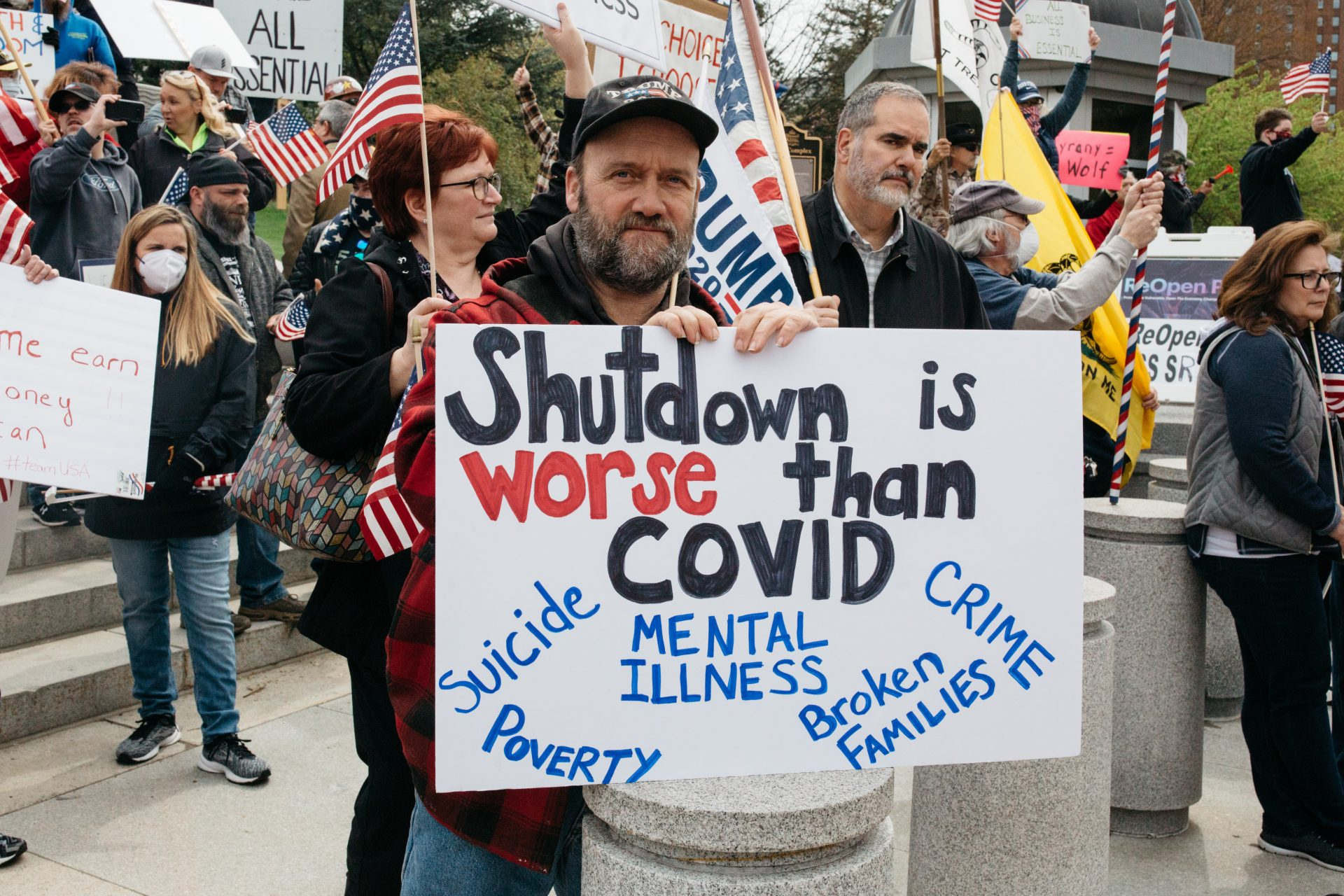 Voices From Harrisburg S Shutdown Protest Turned Gop Rally Witf