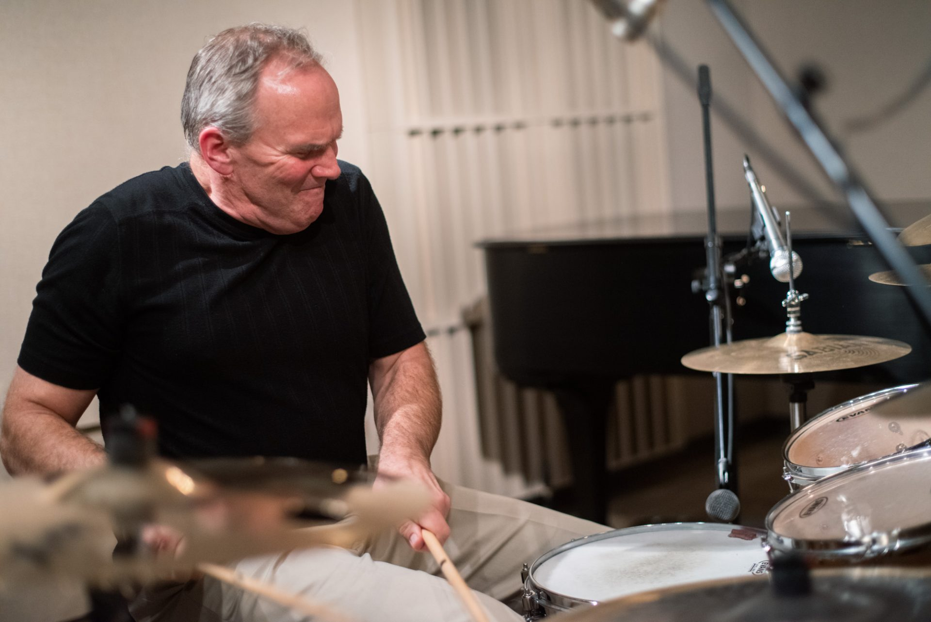 Drummer Ray Wright performing in the WITF studio.