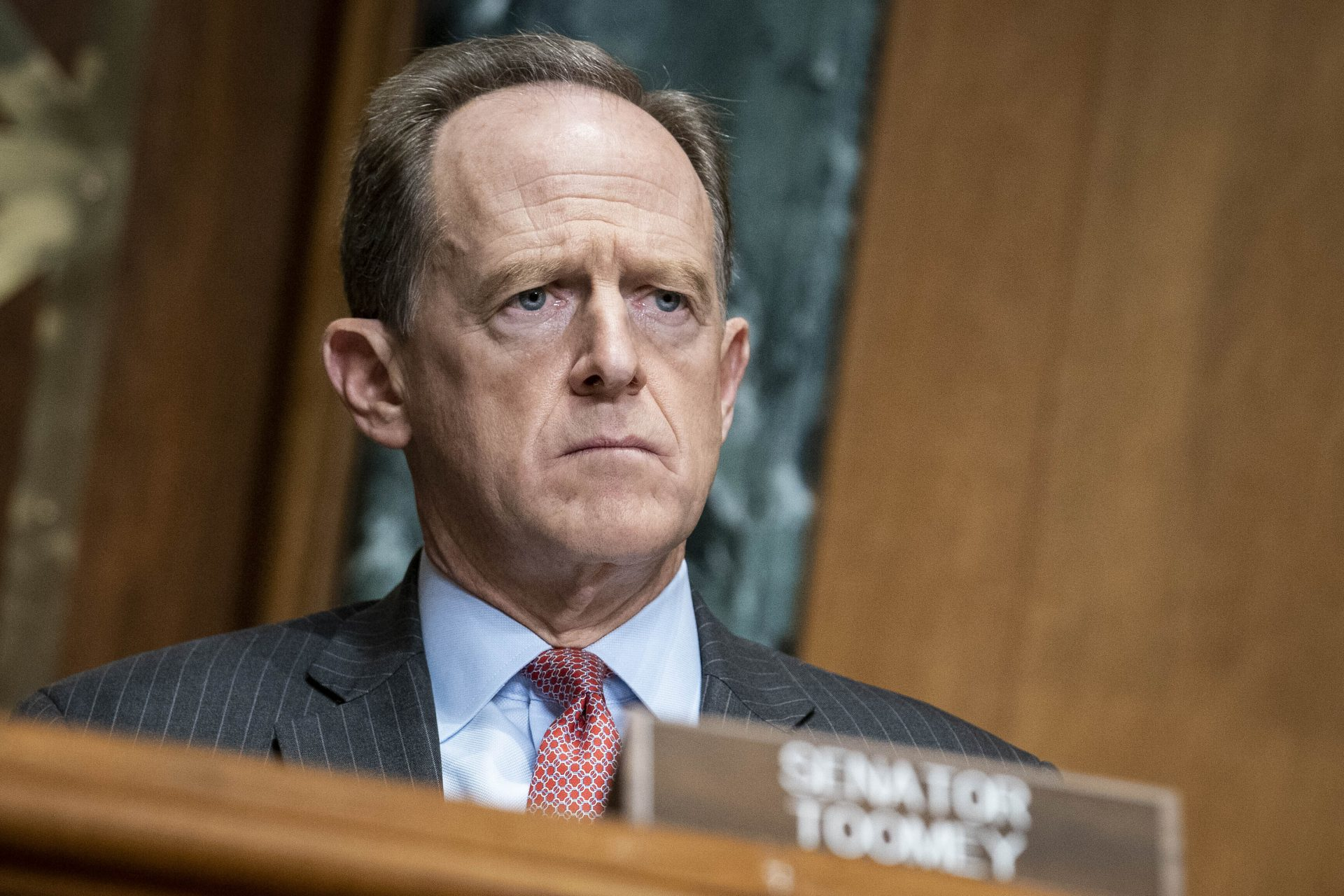 Sen. Pat Toomey, R-Pa., during a hearing on Capitol Hill in Washington, Thursday Dec. 10, 2020.
