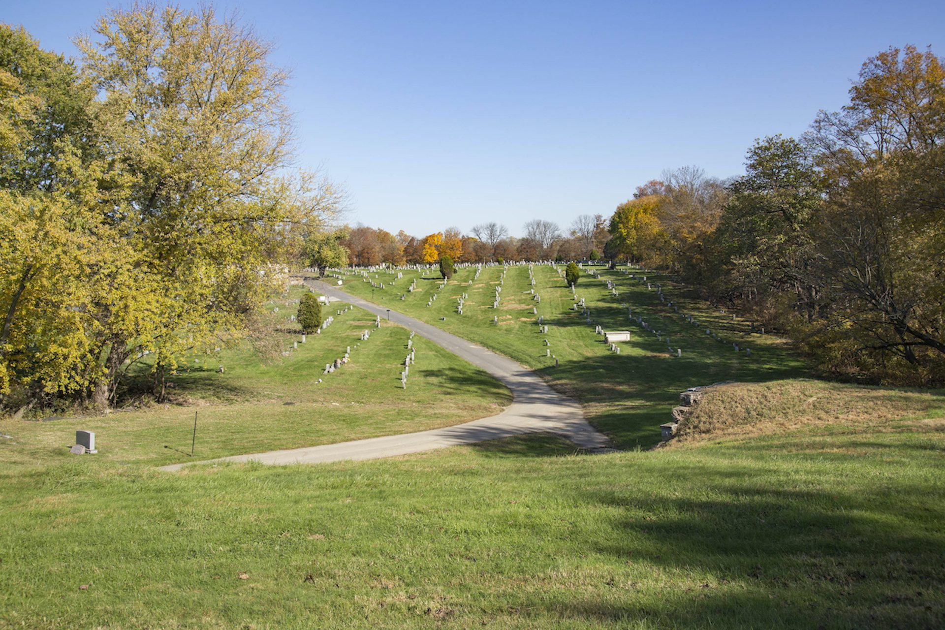 "Eden is a ""lawn cemetery,"" meaning its burials sit within a large, open lawn setting."