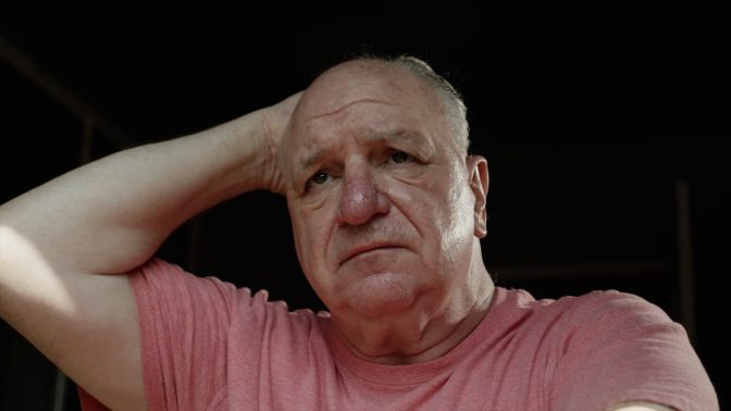 Older man showing signs of worry